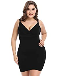abe179cb4e Shapewear Slip for Women Plus Size Full Body Shaping Control Slip Seamless Body  Shaper Slimmer