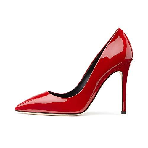 Leder Spitze Geschlossene Plattform Einzelne Schuhe Stilett Abendkleid Einzelne LYY Helles Frauen Wasserdichte Hochzeit Zehe Schuhe YY Braut qEvx8ft