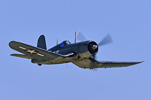 Chance Vought F4U Corsair - (Jeff Cook) (16x24 SIGNED Print Master Giclee Print w/Certificate of Authenticity - Wall Decor Travel Poster)