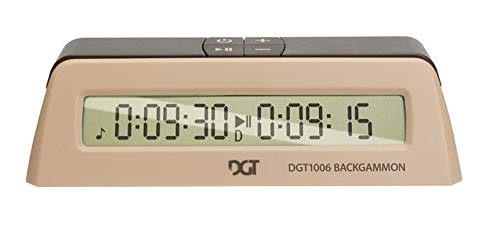 ChessCentral DGT1006 Backgammon and Game Timer (Clock) Bundled with Art of War E-Book on DVD