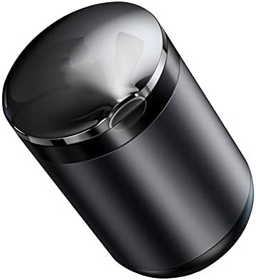 EUEMCH カバー付きLED合金車の灰皿LEDランプ取り外し可能な洗えるライナークリップ口付き難燃性灰皿
