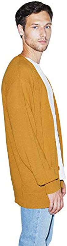 American Apparel Basic Knit Long Sleeve Cardigan męski sweter cardigan: Odzież