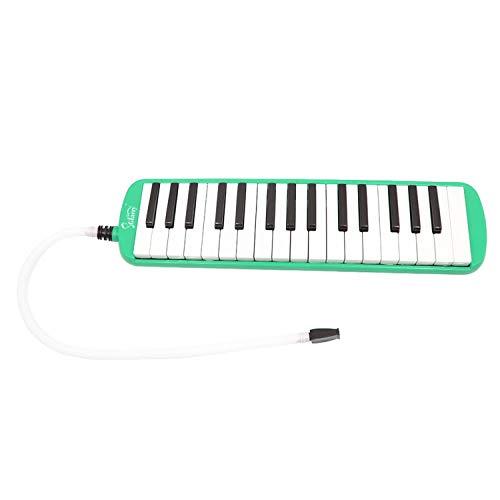 SHUTAO Glarry 32-Key Melodica Mouthpiece & Hose & Bag Green by SHUTAO
