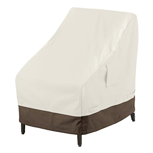 AmazonBasics High-Back Chair Outdoor Patio Furniture Cover, 4-Pack ()