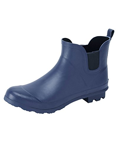 Cotton Traders Unisex Ankle Wellington Boots E Fit Navy