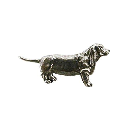 Full Body Basset Hound ~ Lapel Pin/Brooch ~ CWG-D320F ~ Pewter