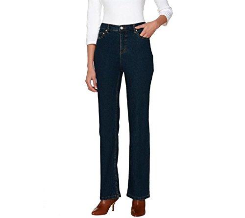 Liz Claiborne NY Hepburn Bootcut Jeans A261288, Dark Rinse, - Jeans Dark York Bootcut New