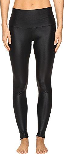 Onzie Women's High Rise Leggings Shiny Black Pants