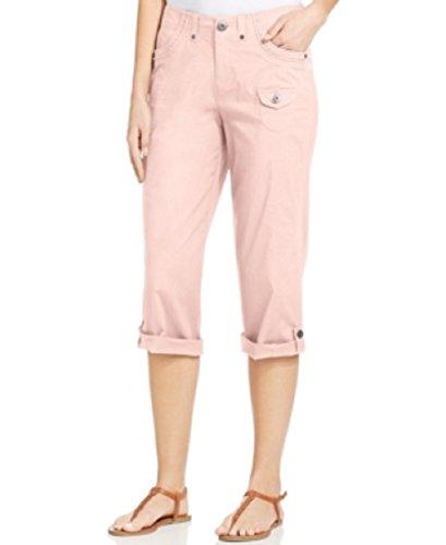 Mini Pocket Roll Tab Capri Pants (Tab Pocket Capri)