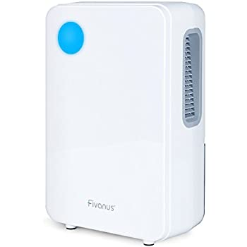 Fivanus Small Thermo Electric Dehumidifiers for Home, Basement, Bedroom, Kitchen, Bathroom, Caravan and Closet, 2200 Cubic Feet, White