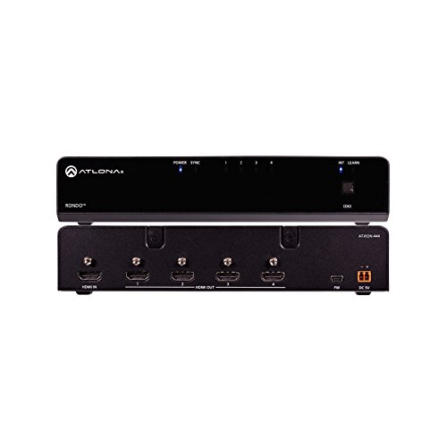 Atlona AT-RON-444 | 4K HDR Four Output HDMI Distribution Amplifier Hdmi Hdcp Compliant Distribution Amp