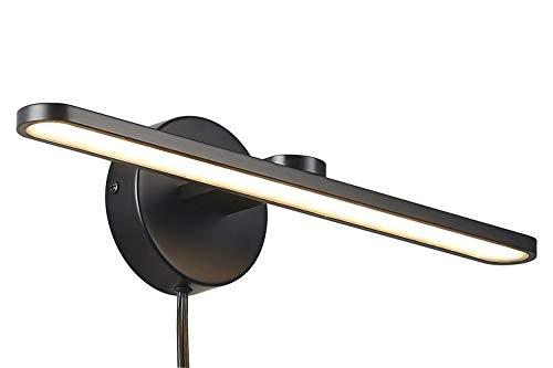 MantoLite LED Picture Light, 15inch Aluminum Frame Lighting, Plug-in Wall Lamp, Black Finish ()