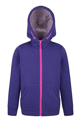 Fur Zip Hoody - Mountain Warehouse Alpine Fur Lined Full Zip Hoody - Fleece Hoodie Berry 11-12 Years