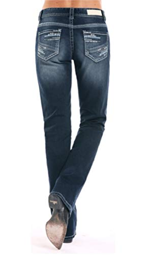 Rock & Roll Cowgirl Women's Boyfriend Extra Stretch Boot Cut Jeans (29X34) ()