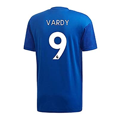 Mens Football Jersey #9 Jamie Vardy Leicester City Football Club Unisex Youths Breathable Sweat Absorbent Short Sleeve Sport Top