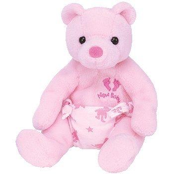 TY Beanie Baby - IT'S A GIRL the Bear  - MWMTs Stuffed Anima
