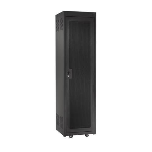 Raxxess Perforated Steel Door with Lock for 28U E1 Enclosed Rack, Black by Raxxess (Image #1)