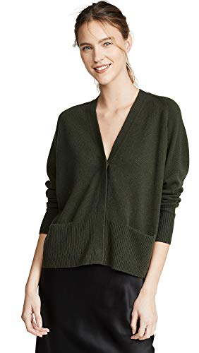 (Vince Women's Raglan Sleeve Snap Cardigan, Alpine, Green, Small)