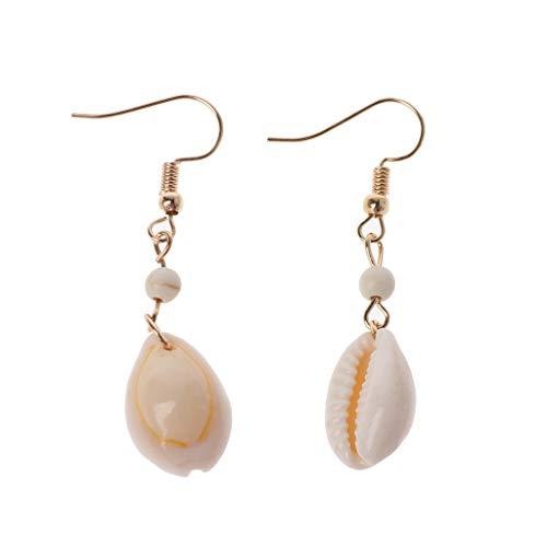 PoityA Natural Simple Cowrie Shell Hook Dangle Drop Earrings for Women Fashion Jewelry ()