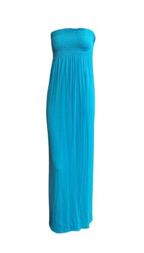 La Turquoise Robe Maxi Boob Tube Sheering Plaine De Ditzy Les Femmes De La Mode
