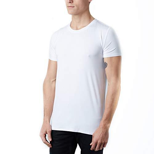 Olive Wren Selective Premium Men's Crew Neck High Thread Count Ultra Soft Bamboo Viscose Undershirt (Medium, White) by Olive Wren