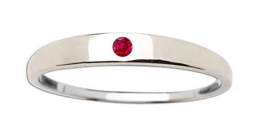 Sterling Silver Dainty CZ Baby Ring or Girl's - Birthstone Ring Baby