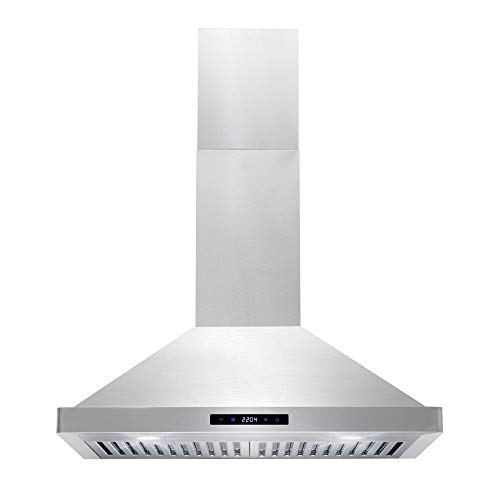 Cosmo 63175S 30-in Wall-Mount Range Hood 760-CFM with Ducted / Ductless...