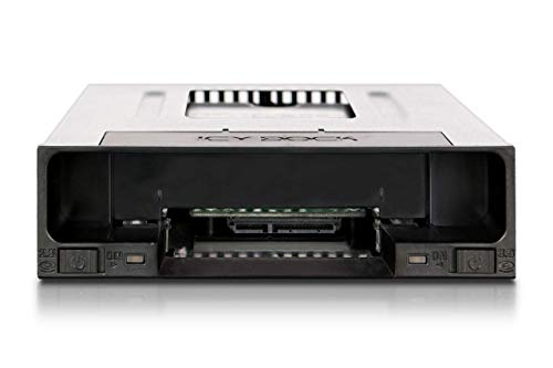 "ICY DOCK flexiDOCK MB795SP-B Tray-Less 2.5"" and 3.5"" SATA SSD/HDD Docking Enclosure for External 5.25"" Drive Bay"