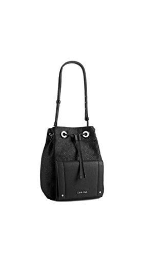 Calvin Klein Womens Kira Drawstring Logo Bucket (Logo Bucket Handbag)