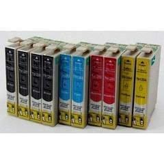 Epson T0715 tinta BREIZ-Juego de 10 cartuchos de tinta para Epson ...