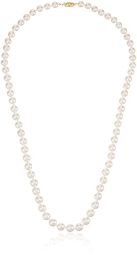 White Japanese Saltwater Akoya Cultured High Luster Pearl Necklace