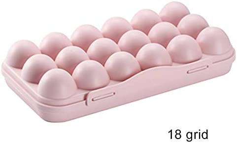 RollingBronze Egg Storage Pan Plastic Eggs Storage Case Multiple Grids Holder Box for Fridge Eggs Container Boxes Space Saver