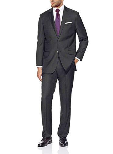 (GN GIORGIO NAPOLI Presidential Men's 2 Button Suit Separate Coat Blazer (48 Long US / 58 Long EU, Charcoal))