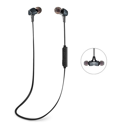 Bluetooth Headphones GJT®BTH-600 Wireless Bluetooth Headsets Noise Cancelling Earphones with Magnetic Attraction