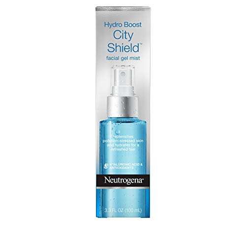 Neutrogena Hydro Boost City Shield Replenishing Facial Mist Gel with Hydrating Hyaluronic Acid and Antioxidants, Non Comedogenic, 3.3 fl. oz
