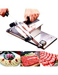 [New Version]Meat Slicer, Manual Frozen Meat Slicer Stainless Steel Beef Mutton Slicing Machine, Roll Meat Vegetable Meat Cheese Food Slicer, Manual Gravity Slicer for Home Kitchen [New Version]