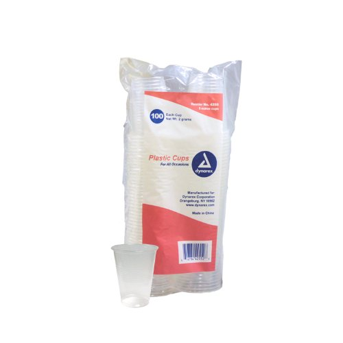 Plastic Drinking Cups 5 oz. 100-Count (Pack of 25)