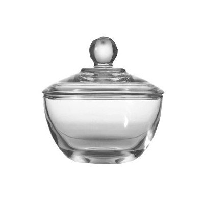 Anchor Hocking Crystal Bowls - Anchor Hocking Presence Glass Sugar Bowl with Lid