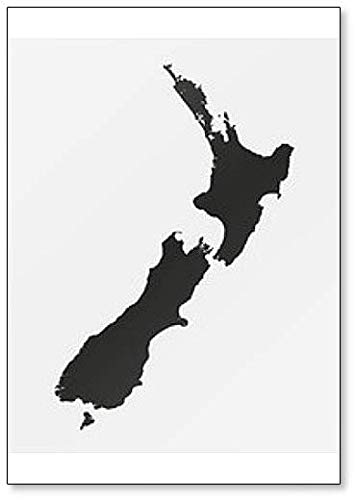 Map of the New Zealand Classic Fridge Magnet (Outline Map Of Oceania Australia And New Zealand)