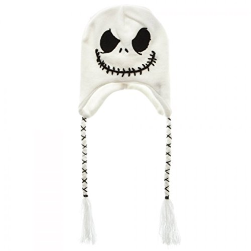 Jack Skellington Top Hat (White The Nightmare Before Christmas Jack Skellington Laplander Beanie)