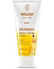 Weleda Baby Calendula babycrème, natuurlijke cosmetica Wundszalf voor de bescherming van gevoelige babyhuid in luiergebied, helpt bij roodheid, geïrriteerde huid en wondensteen (1 x 75 ml)
