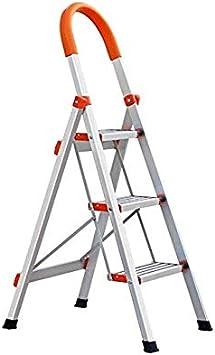 Escalera, escalera de aluminio gruesa de la escalera plegable del hogar, escalera antideslizante multifuncional: Amazon.es: Bricolaje y herramientas