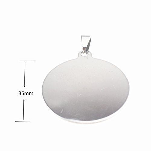 10 Stainless Steel Stamping Blanks Charms Dog Tag Blank Discs Etching Blank Engraving Blank (35mm (Silver Foil Cross)