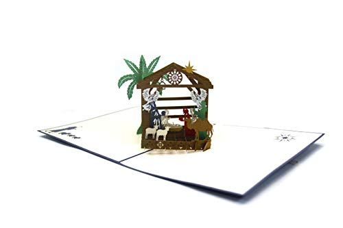 (Christmas Nativity 3D Popup Card, Paper Gift Card, Greeting Card, Christmas Card)