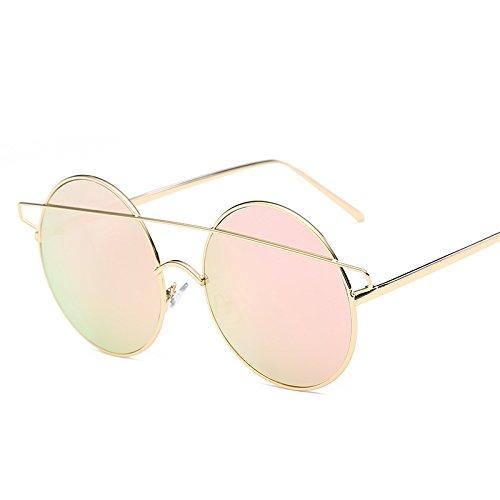 KJCW BAIBB Red Mujer De Creativo Pink Personalidad Clásico Universal De Sol Popular Y Gafas De Sol Gafas Tendencia Hombre Moda UUFw4x