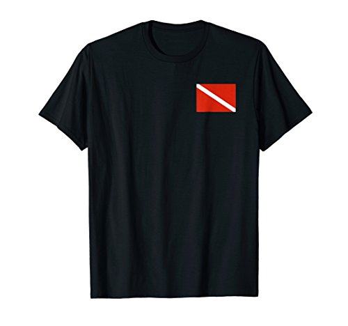 Diver Down Dive Flag T-Shirt Scuba Diving ()