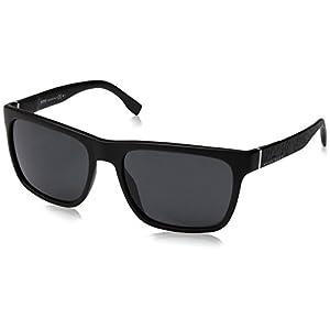 BOSS by Hugo Boss Men's B0918s Rectangular Sunglasses, Matte Black, 56 mm
