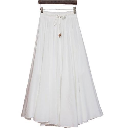 Femirah Women's Cotton Skirts Big Hem Long Skirts 11 Colors hot sale