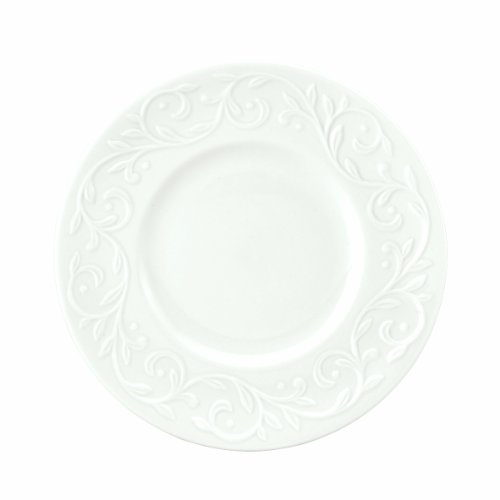 Lenox Opal Innocence Carved 7-1/4-Inch Dessert Plates, Set of 4 (Lenox Plate Innocence Accent Opal)
