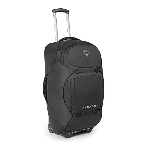 Osprey Packs Sojourn Wheeled Luggage, Flash Black, 80 L/28'
